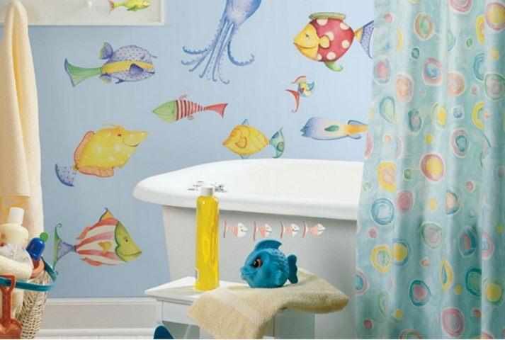 Рисунки краской в ванной