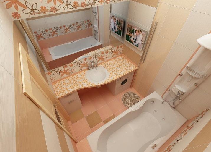 Варианты отделки ванной плиткой