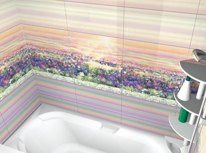 3Д панно в ванной