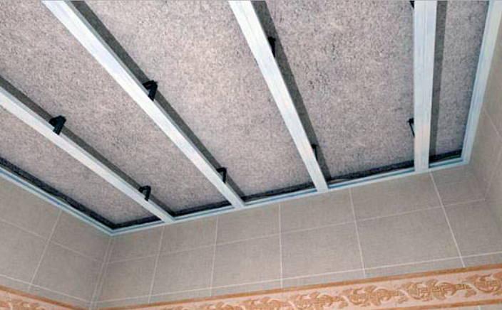Установка профиля на потолок для ПВХ