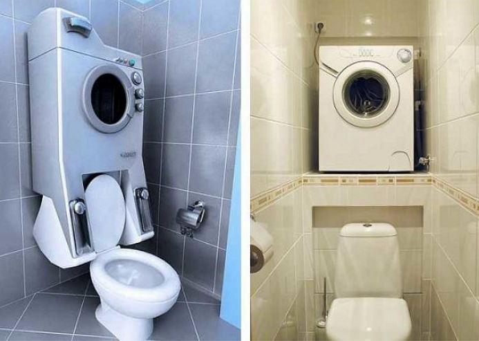 Стиралка в туалете