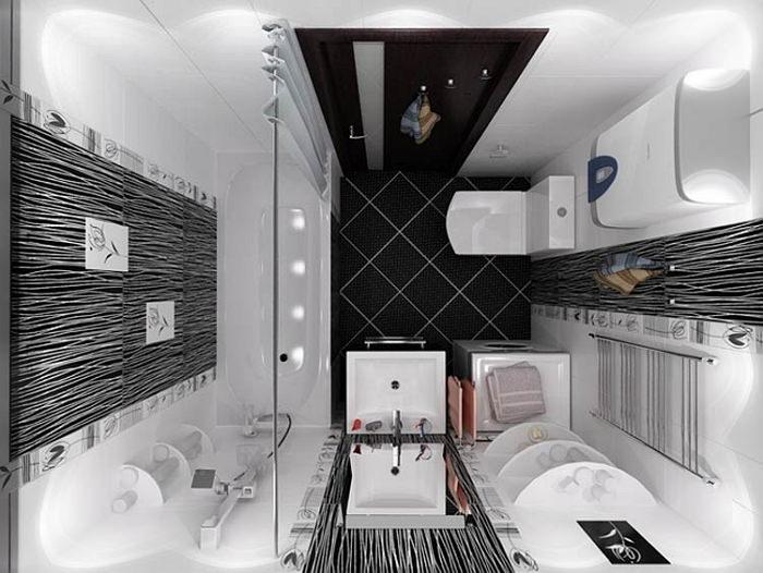идея дизайна ванной в хрущёвке