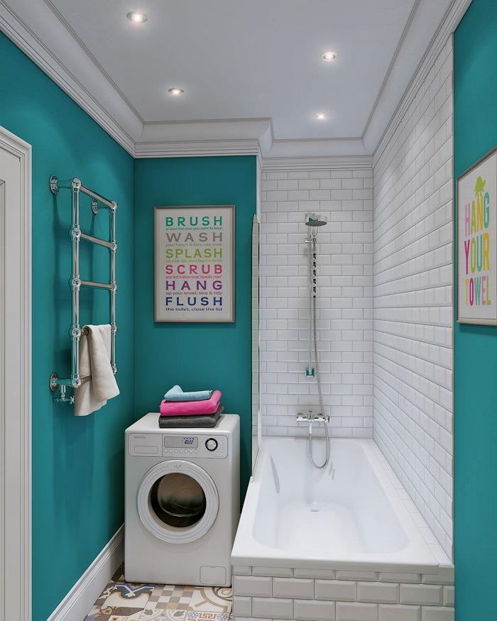 винтажная ванная 3 кв м