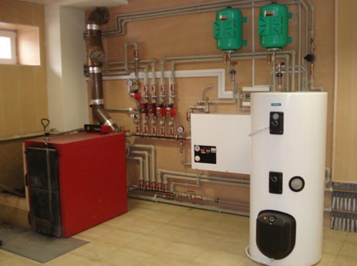 Напольный газовый котел для системы отопления