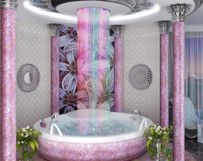 Как сделать тропический душ в ванной 180