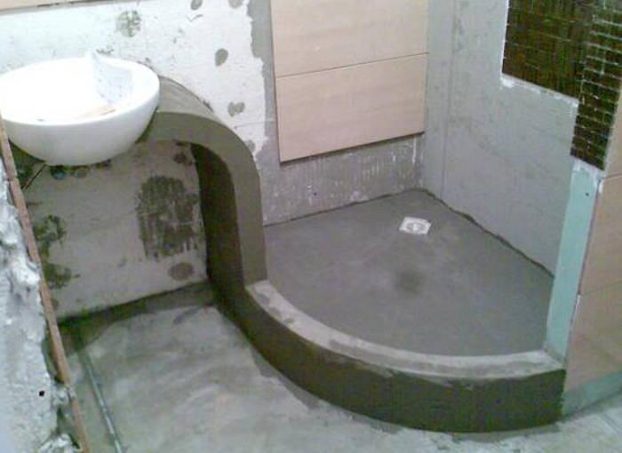 Поддон для душа из бетона