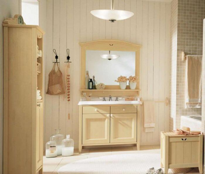 Комплект мебели из дерева для ванной