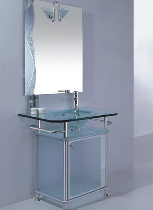 Тумбочка из стекла в ванную