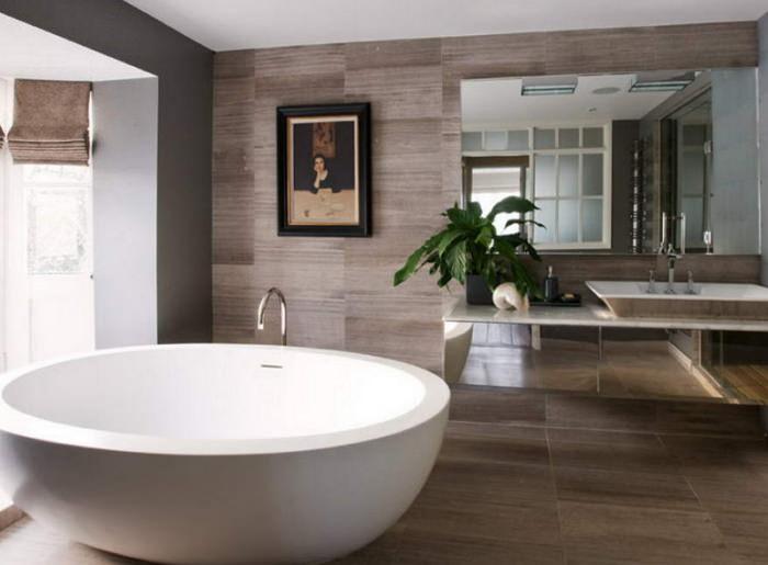 Круглая отдельностоящая ванна