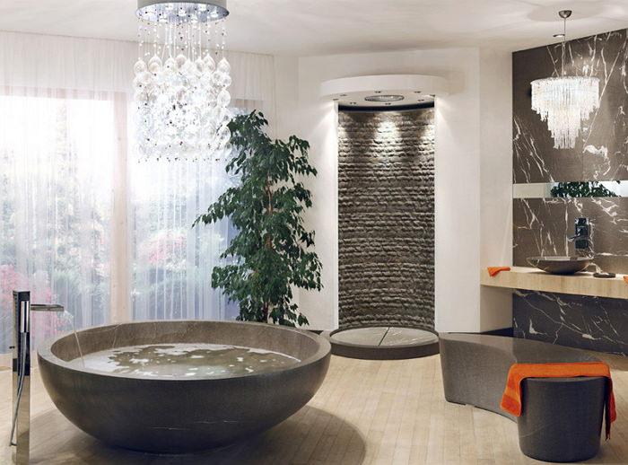 Ванная в стиле рокко модерн