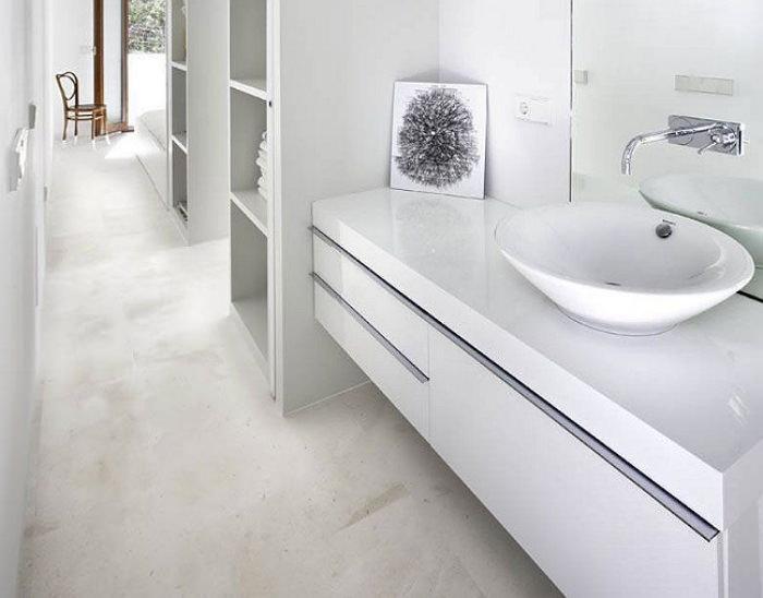 Пластиковая столешница в ванную