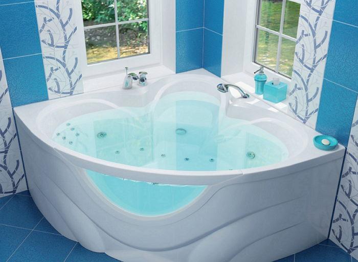 Большая ванна для троих
