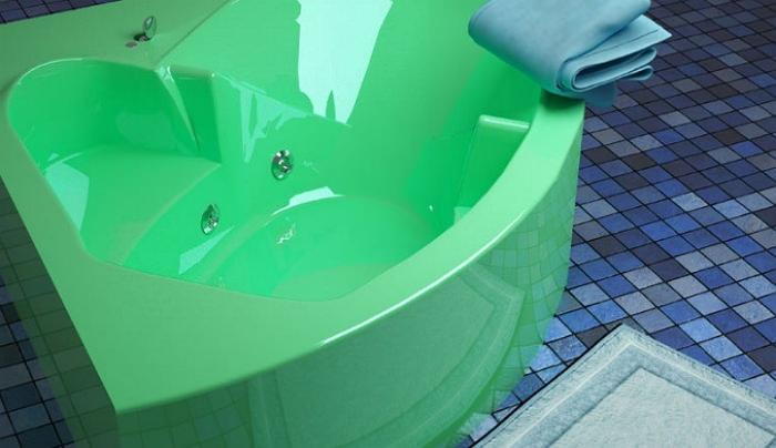 Сантехника зеленого цвета из акрила