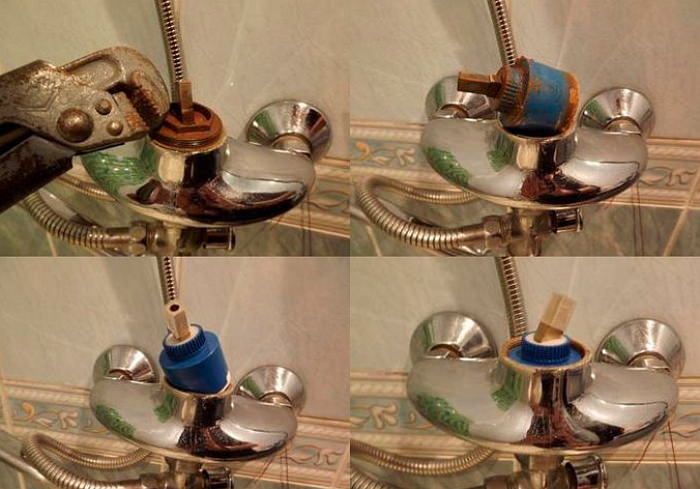 Ремонт однорычажного крана в ванной