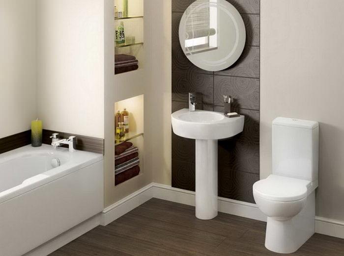 Размещение раковины в ванной комнате
