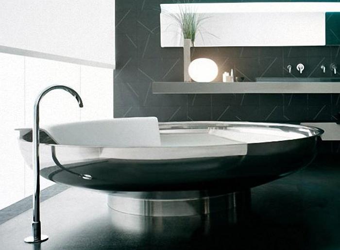 Стальная ванна круглой формы