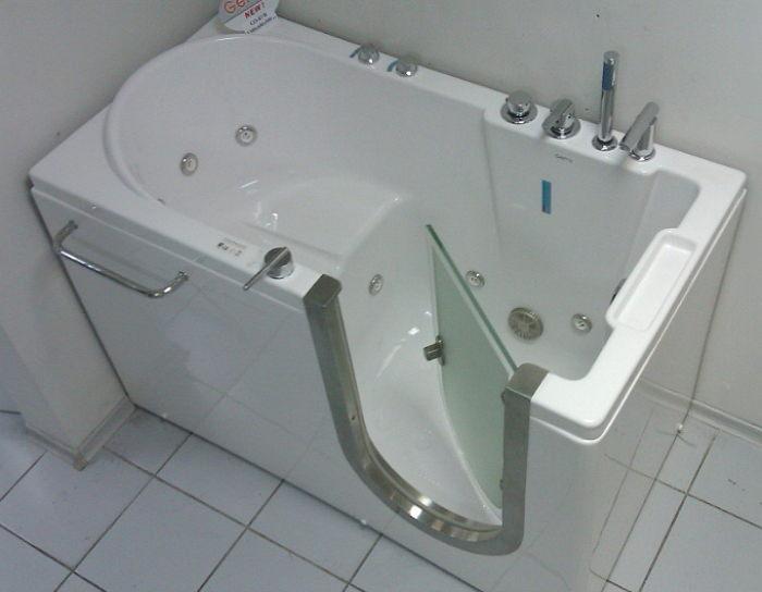 Сидячая ванна из стали