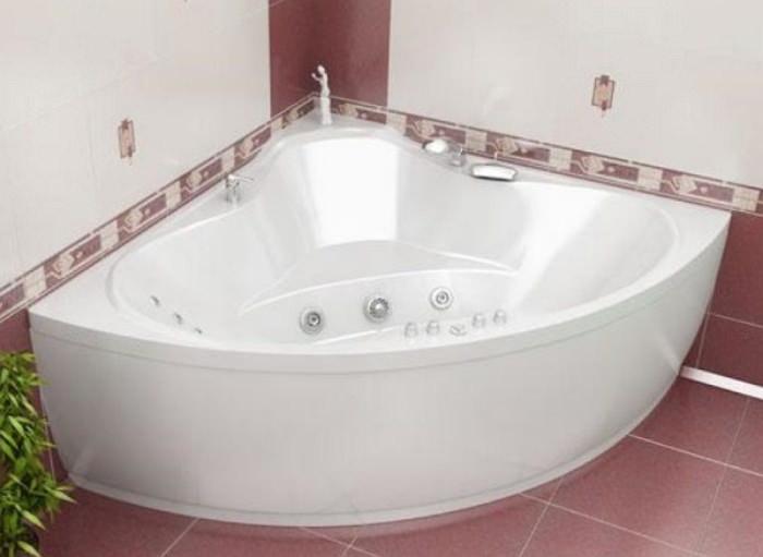 Угловая модель акриловой ванны