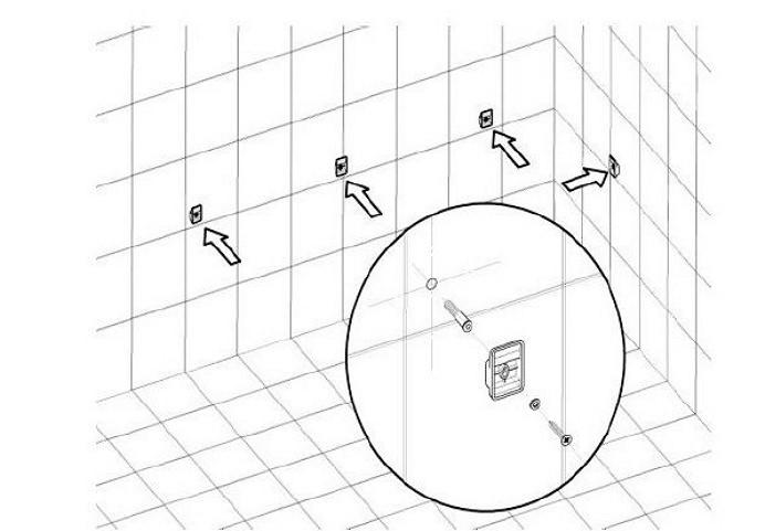 Крепление ванны акриловой угловой