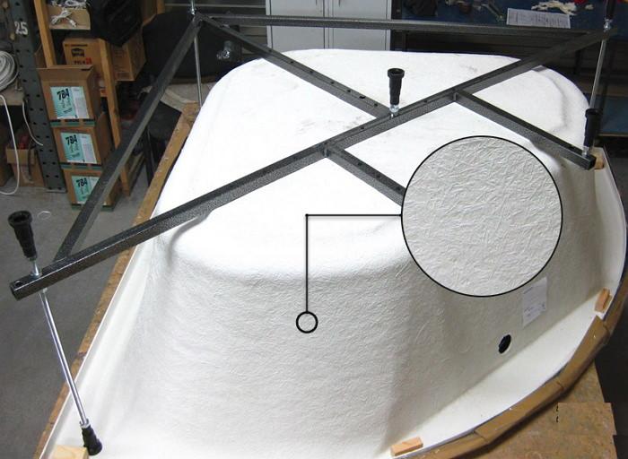 Армирование ванны из акрила