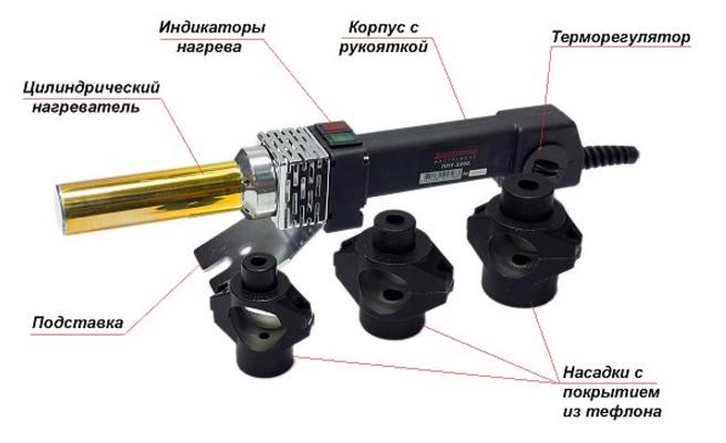 Конструкция инструмента для сварки ПП-труб