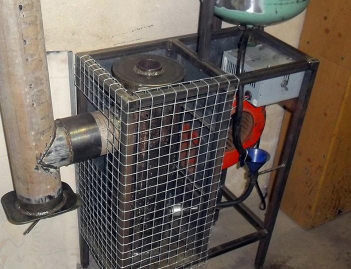 Самодельная печка на отработанном масле