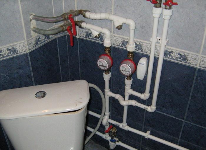 Неправильная установка счетчика воды