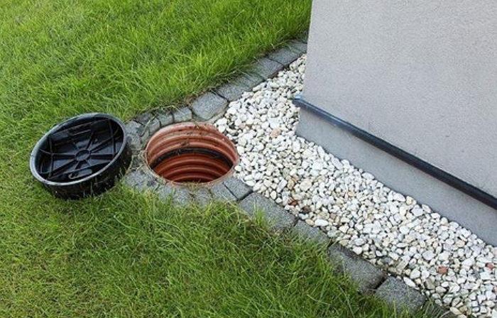 Отвод воды вокруг частного дома