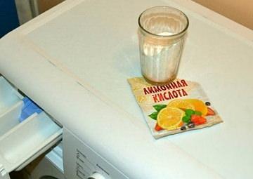 Как почистить стиральную машинку от накипи лимонной кислотой