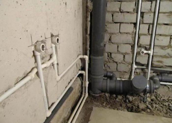 Скрытая разводка труб водонабжения