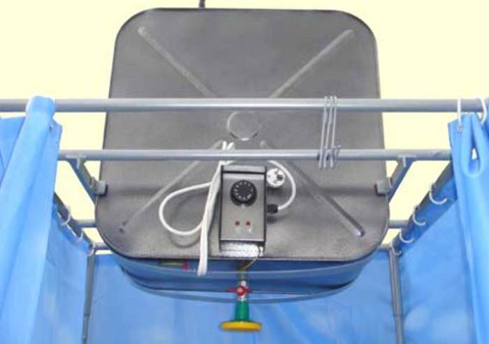 Летний душ с электрическим подогревом