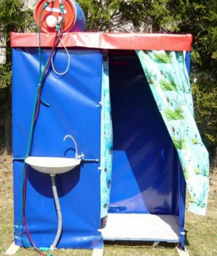 Как сделать дачный душ с подогревом своими руками?