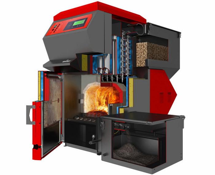 Комбинированный котел для отопления дрова-электричество