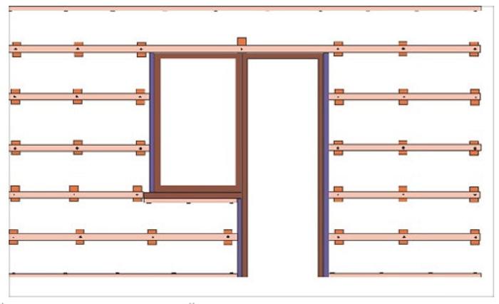 Обрешетка стен для монтажа панелей ПВХ