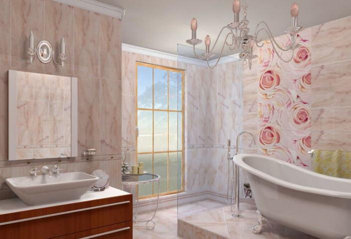 Облицовка стен ванной комнаты панелями пвх