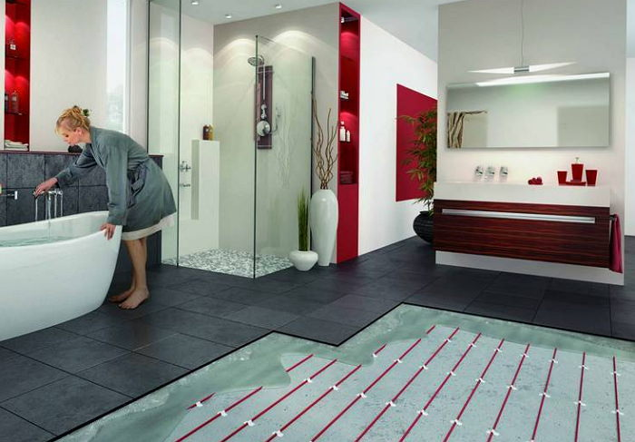 Система теплого пола в ванной
