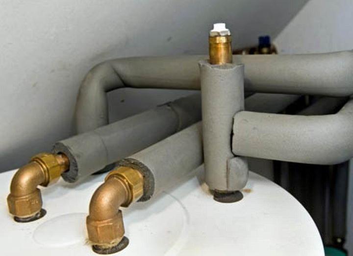 Монтаж утеплителя на трубы