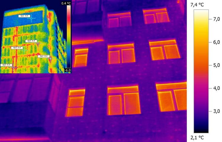 Исследование многоквартирного дома термосканером