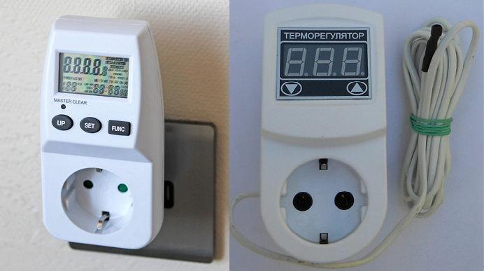 Розетка с термостатом