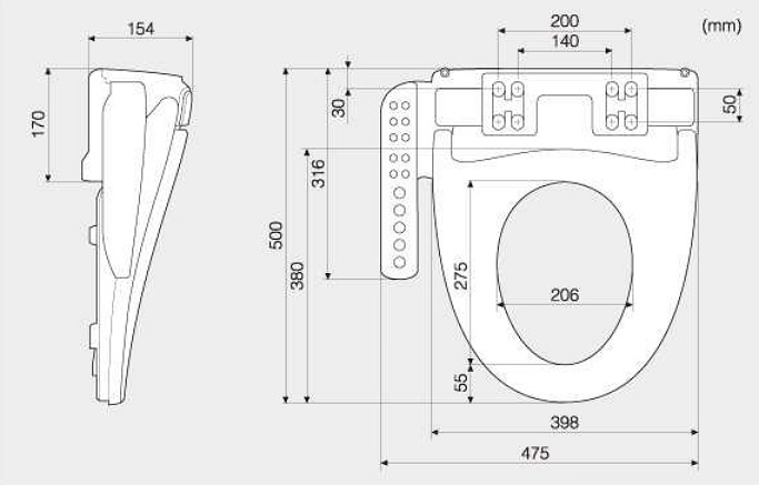 Подобрать сиденье для унитаза по размеру